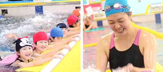 アンシャーリー保育園の課外水泳教室
